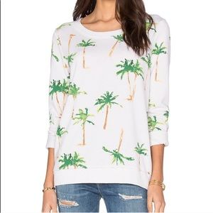 Chaser Palm Tree Print Sweatshirt L